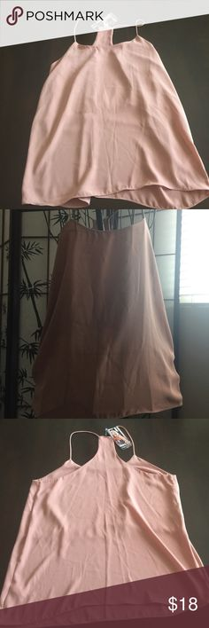 Cookies cross back tank Cookies boutique cross back top in Mauve. Size Large. New with tags. Polyester Tops Tank Tops