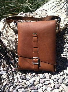 handmade leather bag mens leather bag womens by longshotleather.