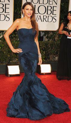 Sofia Vergara - Golden Globes 2012 in Vera Wang