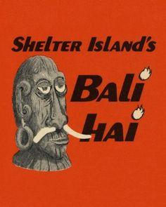 Bali Hai Tiki Bar 18x24 Art Poster San Diego Mr. Bali Hai Carving ...