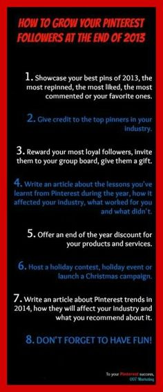How to Grow Your #Pinterest Followers at the End of 2013
