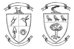 Family crests by Harrison Glenn, for the Williams/Haggerty wedding, August 31, 2013