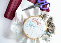 The Closet Intellectual: Embroidered Sachet