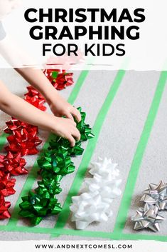Looking for Christmas math activities for preschool or kindergarten? Then this Christmas graphing activity is perfect! It's a great way to teach kids how to graph using gift bows. activities Christmas Graphing Math Activity for Preschool or Kindergarten Christmas Activities For Toddlers, Preschool Christmas Crafts, Educational Activities For Kids, Holiday Activities, Kindergarten Christmas, Christmas Maths, Graphing Activities, Counting Activities, Class Activities
