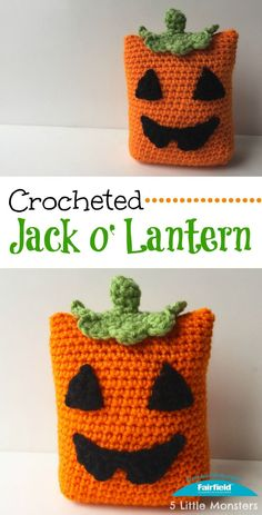 Crocheted Jack o' Lantern Pillow