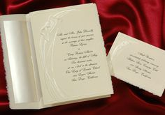 Wedding Invitations beautiful ecru invitation with calla lilies is made of felt finished paper by Wedding Invitations -The Office Gal