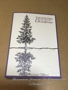Stampin' Up! by Nikki Miers.....lovely as a tree...reflection technique