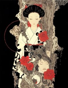 Image result for creepy japanese art