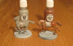 Kevin's Miniatures & Hobby Table: Tutorial: Painting Horses, 28mm