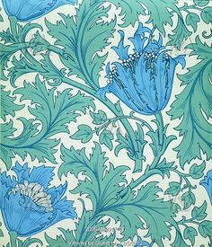 Anemone wallpaper, by William Morris. England, 19th century