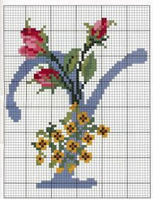 Steel Blue with Roses Alphabet Cross Stitch Pattern Y Cross Stitch Letters, Cross Stitch Charts, Cross Stitch Designs, Embroidery Alphabet, Embroidery Patterns, Stitch Patterns, Monogram Alphabet, Alphabet And Numbers, Cross Stitching
