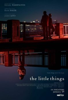 """The Little Things (2021) Deputy Sheriff Joe """"Deke"""" Deacon joins forces with Sgt. Jim Baxter to search for a serial killer who's terrorizing Los Angeles. As they track the culprit, Baxter is unaware that the investigation is dredging up echoes of Deke's past, uncovering disturbing secrets that could threaten more than his case. Denzel Washington, Hd Movies, Movies Online, Movies And Tv Shows, Movie Tv, Movie List, Jared Leto, Rami Malek, Tekken 2"""