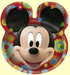 Mickey Mouse Clubhouse Plates with Ears