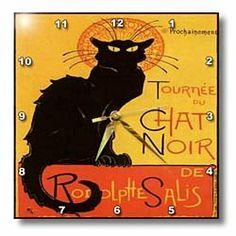 3dRose dpp_46907_1 Le Chat Noir Advertising, Art Nouveau, Black Cat, Cat, Cats, Chat Noir, Le Chat Wall Clock, 10 by 10-Inch 3dRose,http://www.amazon.com/dp/B007ZSWUSU/ref=cm_sw_r_pi_dp_l.Y2sb0RRHPPMA5K