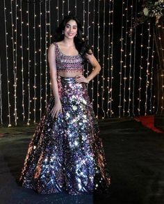 Priyanka Chopra and Nick Jonas's Mumbai Reception has got the Fashion Police on duty! there's still much more to look forward to when it comes to Indian Fashion Dresses, Indian Gowns Dresses, Dress Indian Style, Indian Wear, Indian Wedding Outfits, Indian Outfits, Shakira, Manish Malhotra Lehenga, Lehenga Choli