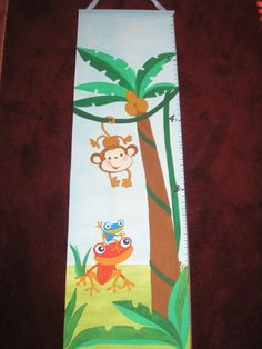 Children's Growth Chart Monkey from Rain forest Fisher Price Ready to ship SALE. $45.00, via Etsy.