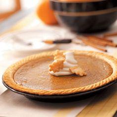 Butternut Squash Pie Recipe from Taste of Home