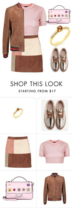 """""""Anastazio-rose gold"""" by anastazio-kotsopoulos ❤ liked on Polyvore featuring Boohoo, Topshop, Fendi and Gucci"""