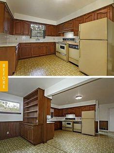 GroBartig Entzuckend Hervorragende Küche Umbau Vor Und Nach #Badezimmer #Büromöbel  #Couchtisch #Deko Ideen
