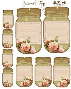 Spring Roses Journal Tags