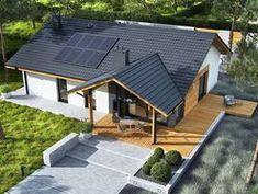 DOM.PL™ - Projekt domu ACX Mini 4 w. II CE - DOM UF1-11 - gotowy koszt budowy Farmhouse Design, Modern Farmhouse, Architectural Design House Plans, Bungalow House Plans, Surf Shack, Happy House, Dream House Exterior, Tiny House, Beautiful Homes