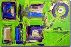 Alle schilderijen � Schilderij Lime meeting purple, blue and gold