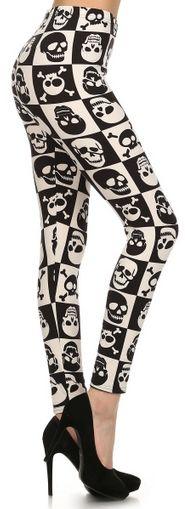 Checkered Skull Leggings - FTGS