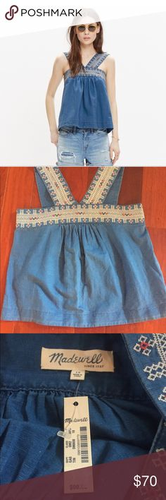 NWT madewell embroidered siesta top Coachella 10 Size 10- this is a super cute, BoHo top. This would be so cute for A music festival :). New with tags! Madewell Tops