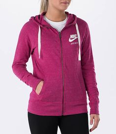 5bbba3850a99 Nike Women s Gym Vintage Full-Zip Hoodie