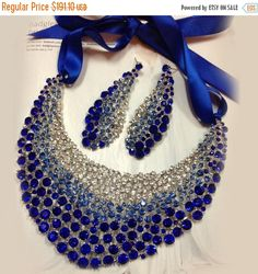 A personal favorite from my Etsy shop https://www.etsy.com/listing/218032536/bridal-jewelry-set-wedding-jewelry-bib