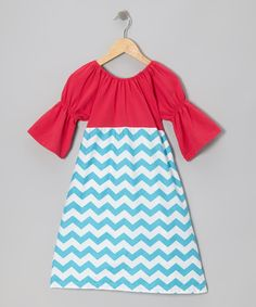 Take a look at this Sue Berk Designs Hot Pink & Blue Zigzag Dress - Infant, Toddler & Girls on zulily today!