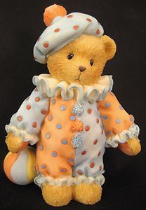 Cherished Teddies Bear Dudley Just Clowning Around Clown with Ball CT 103748
