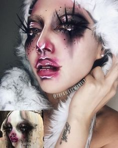 Dustin Bailard-Make-upkunst - Make Up - Makeup Makeup Fx, Artist Makeup, Drag Makeup, Clown Makeup, Body Makeup, Costume Makeup, Makeup Inspo, Makeup Inspiration, Beauty Makeup