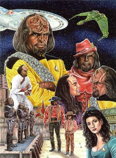An iconic main character in Star Trek: The Next Generation and the Star Trek: Deep Space Nine television series. You can see what a huge Trek fan the artist Jonathan W. Brown is. He's created this col