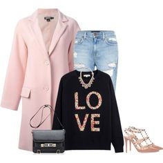 """Pink and black"" by lenaick on Polyvore"