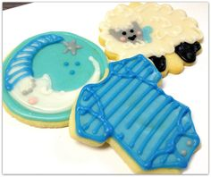 Iced Sugar Cookies Decorated Cookie Squares by SugarMeDesserterie