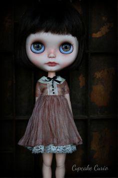 Blush Silk Blythe Dress Set by CupcakeCurio on Etsy