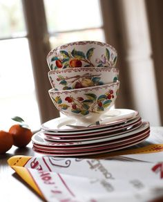 Comptoir De Famille Bowl Wild Strawberry Blossom 75 cl | NEW! Herfst/Winter 2013 | Originated-Webshop