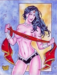 Wonder Woman (#35) -NUDE- by Rodel Martin by VMIFerrari
