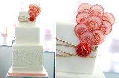 sweet saucy white wedding cake
