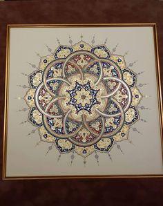 Islamic Art Pattern, Arabic Pattern, Pattern Art, Arabic Calligraphy Art, Arabic Art, Mandala Drawing, Mandala Art, Motif Oriental, Illumination Art