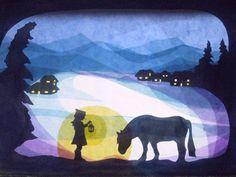 Winterpferd von Art 4 Windows auf DaWanda.com