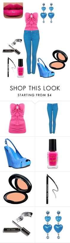 """""""Pink Blue :)"""" by marence94 ❤ liked on Polyvore featuring TALLY WEiJL, Topshop, COSTUME NATIONAL, Barry M, Kanebo, MAKE UP FOR EVER, Bobbi Brown Cosmetics, Tarina Tarantino, pink lips. and mascara"""