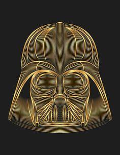 Star Wars Darth Vader Art Print by Nathan Owens. Shop Prints & Tees at https://society6.com/NathanOwens