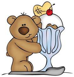 TEDDY BEAR AND ICE CREAM SUNDAE