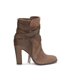 VINCE CAMUTO CHARISA- WRAP STACKED HEEL BOOTIE
