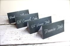 Chalkboard Table Tent Cards - Food Labels, Dessert Bar, Drink Bar, Baby Shower Decor - Wedding Decor via Etsy