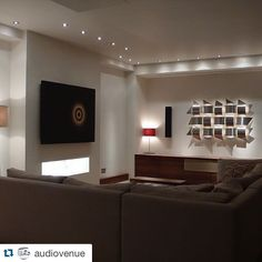 #Repost @audio-venue ・・・ #lightingdesign #motorisedpicture #lutron #definitivetechnology Our demonstration room in  Ealing London #Ealing #maidenhead #Audiovenue
