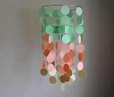 Hey, I found this really awesome Etsy listing at https://www.etsy.com/listing/200978995/mint-greenpeachgold-chandelier-mobile