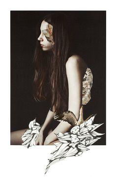 New Floral Collages Portraits by Rocio Montoya – Fubiz Media